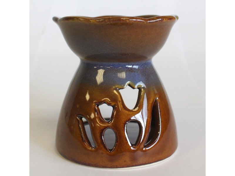 Tulip Design Oil Burner - Amber