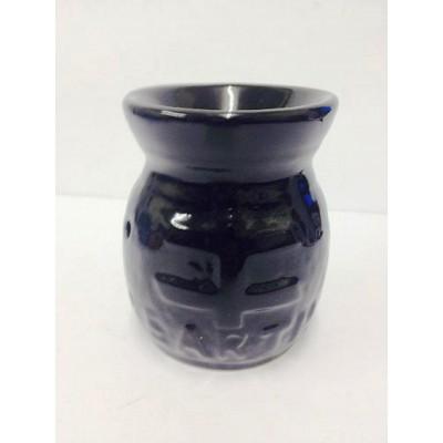 Ceramic Oil Burner 10cm Earth Design BLACK
