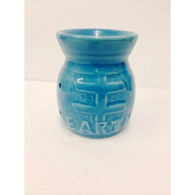Ceramic Oil Burner 10cm Earth Design BLUE
