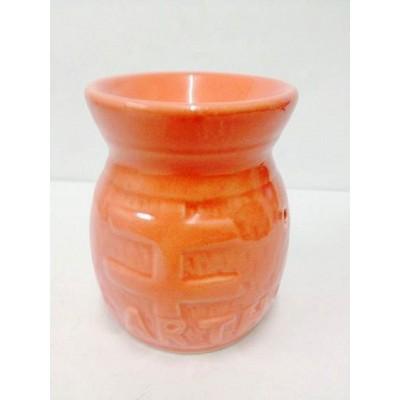 Ceramic Oil Burner 10cm Earth Design PINK