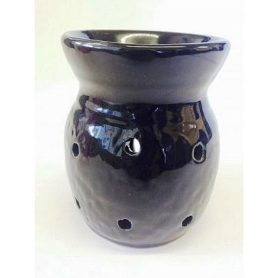 Ceramic Oil Burner 10cm Four Holes BLACK