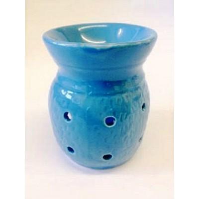 Ceramic Oil Burner 10cm Four Holes LIGHT BLUE