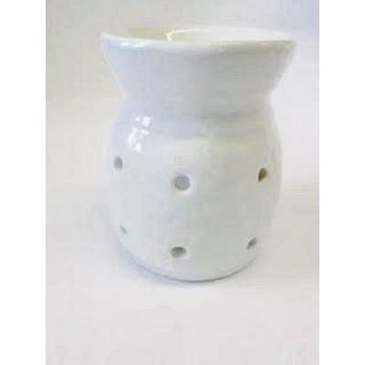 Ceramic Oil Burner 10cm Four Holes WHITE