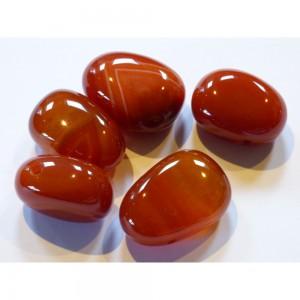 Carnelian Drilled Tumblestone