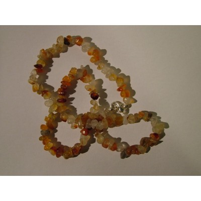 Carnelian 20 inch Gemchip Necklace