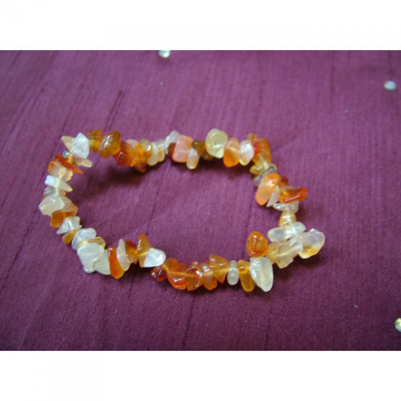 Carnelian Gemchip Bracelet