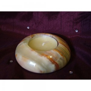 Onyx Candle holder with candle