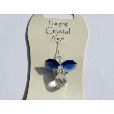 Sapphire Blue Hanging Crystal Angel