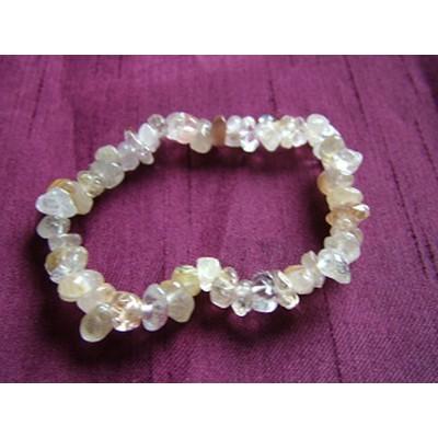 Rutilated Quartz Gemchip Bracelet