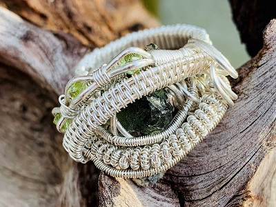 Amazing jewellery made from Moldavite