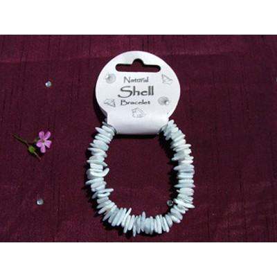 Light Blue Shellchip Bracelet