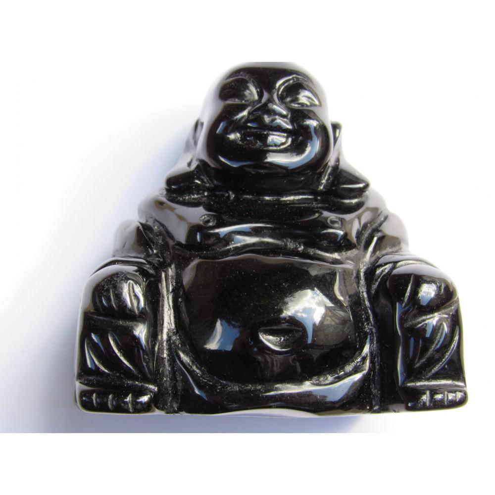Black Obsidian Buddha