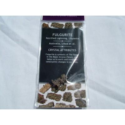 Fulgarite (Petrified Lightning, Libyanite) Pack A