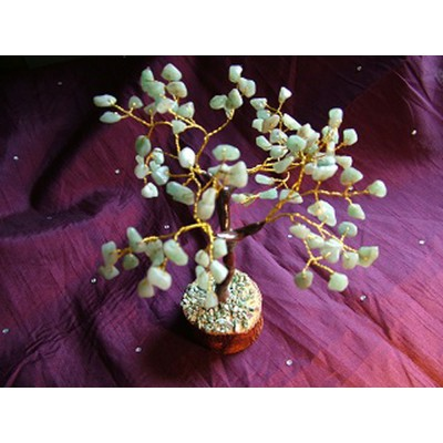 100 Green Leaves Agate Gem Tree