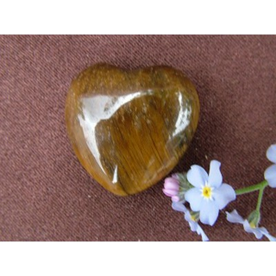Tiger Eye Small Heart