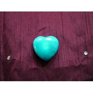Turquisoe Howlite Small Heart