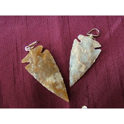 Spear / Arrowhead Pendant with cord
