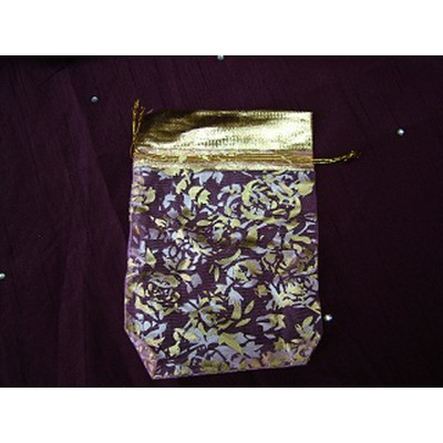 Big Gold Flower Pouch
