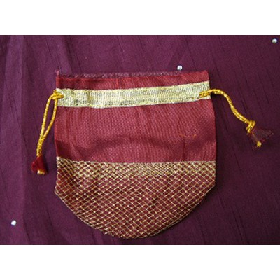 Big Red and Gold Lattice Pouch
