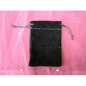 Small Black Velvet Pouch