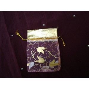 Small Gold Flower Pouch