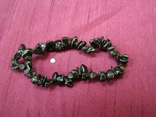 Black Obsidian Gemchip Bracelet