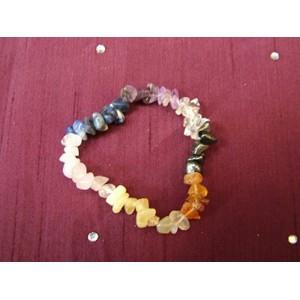 Chakra Gemchip Bracelet