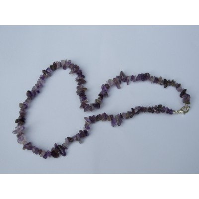 Amethyst 20 inch Gemchip Necklace