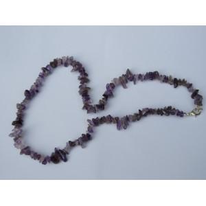 Amethyst 20 inch Gemchip Necklace
