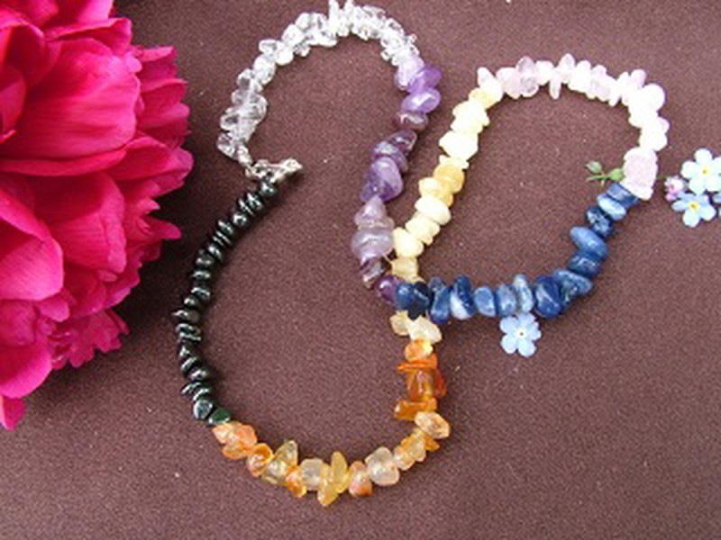 Chakra 20 inch Gemchip Necklace