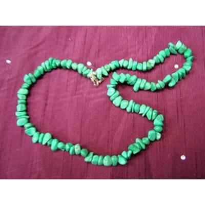 Malachite Howlite 20 inch Gemchip Necklace