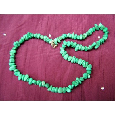 Malachite Howlite 20 inch Gemchip Necklace