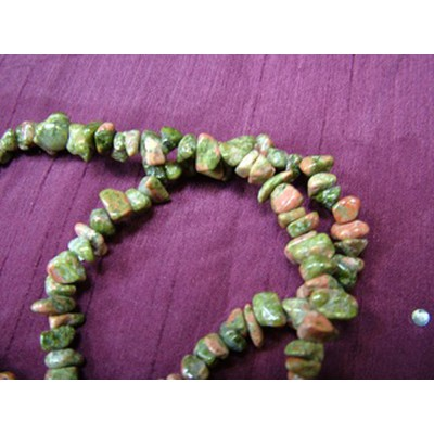 Unakite 20 inch Gemchip Necklace