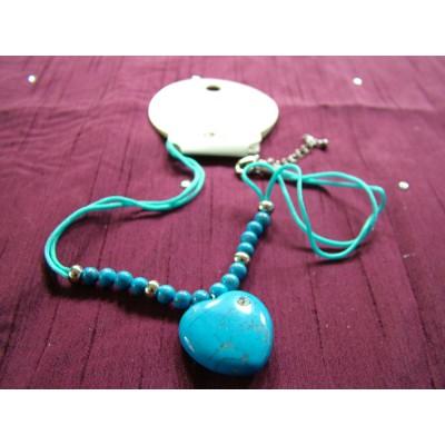 Blue Twinkle Heart Pendant