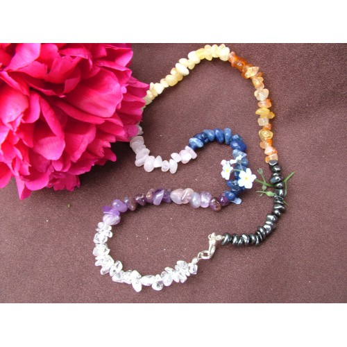 Chakra 20 inch Gemchip Necklace
