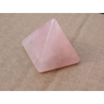 Rose Quartz Pyramid 25 x 25 mm