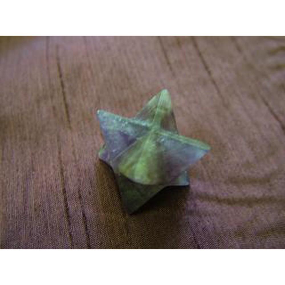 Amethyst Merkaba Star with slightly chipped corners