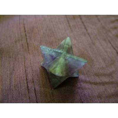 Amethyst Merkaba Star with slightly chipped corners