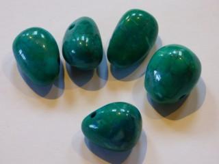 Chrysocolla Howlite Drilled Tumblestone